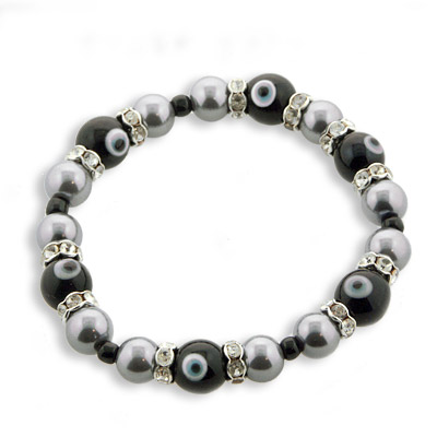 Black and Taupe Elegant Bracelet