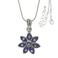 Evil Eye Flower Necklace