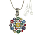 Evil Eye Colorful Flower Necklace